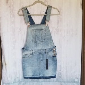 NWT Dollhouse jean overall dress size 9